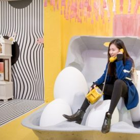 See How a Group of Millennials Built an Egg-Theme Pop-Up Exhibit From Scratch
